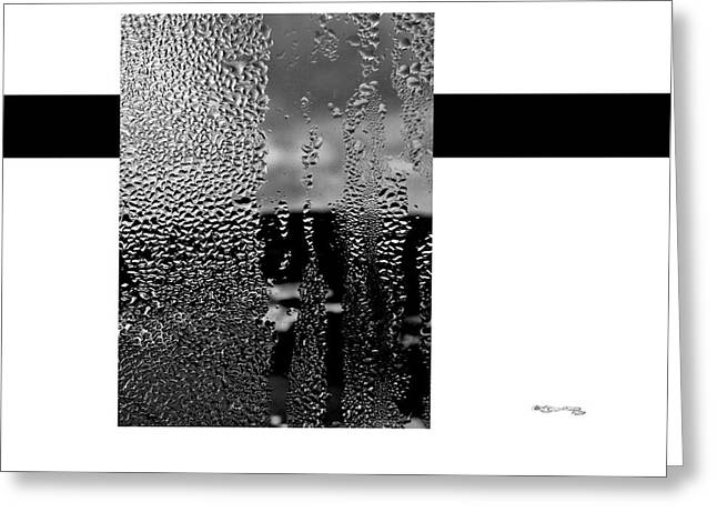 Cespon Greeting Cards - Condensed Window Greeting Card by Xoanxo Cespon