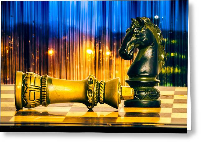 Chess Piece Greeting Cards - Condescending Knight Greeting Card by Bob Orsillo