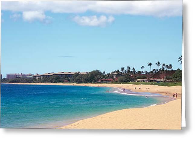 Condominium Greeting Cards - Condominium On The Beach, Maui, Hawaii Greeting Card by Panoramic Images