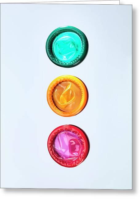 Condoms Greeting Card by Tek Image