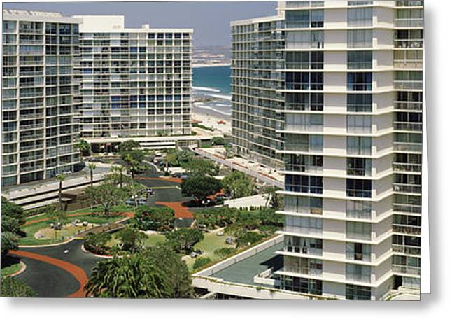 Condo Greeting Cards - Condos In A City, San Diego Greeting Card by Panoramic Images