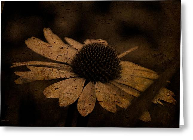 Alabama Greeting Cards - Cone Flower Art Coffee Greeting Card by Lesa Fine