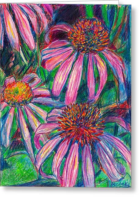 Coneflower Twirl Greeting Card by Kendall Kessler