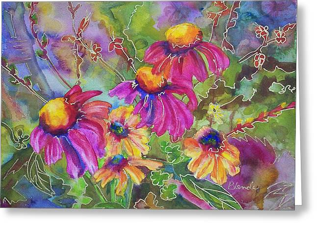 Coneflower Greeting Cards - Coneflowers and Co  Greeting Card by Blenda Studio
