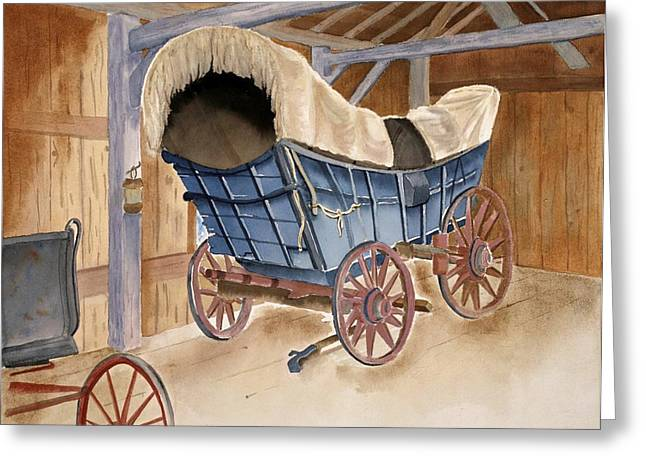 Conestoga Paintings Greeting Cards - Conestoga Wagon Greeting Card by Emilee Reed