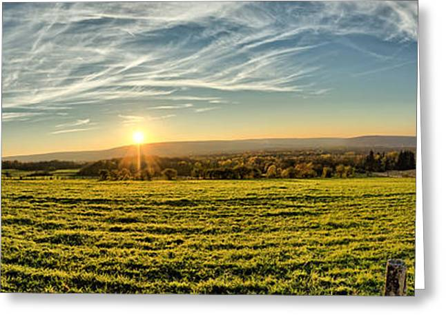 Mountain Valley Greeting Cards - Conewango sunset Greeting Card by Chris Bordeleau