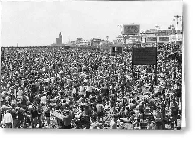 Amusement Park Greeting Cards - Coney Island - Brighton Beach Greeting Card by MMG Archives