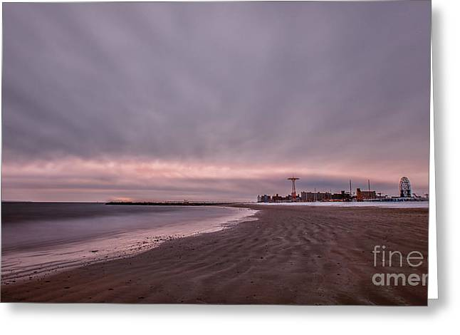 York Beach Photographs Greeting Cards - Coney Island Bound Greeting Card by Evelina Kremsdorf