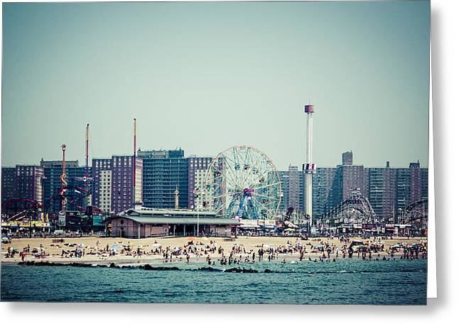 Coney Island Dream Greeting Card by Frank Winters