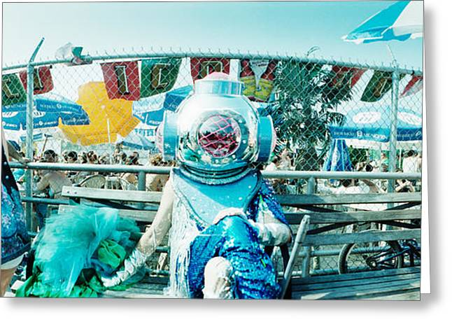 Coney Island Greeting Cards - Coney Island Mermaid Parade, Coney Greeting Card by Panoramic Images