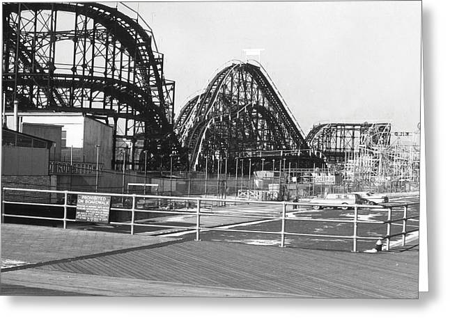 Coney Island - Roller Coaster Greeting Card by MMG Archives