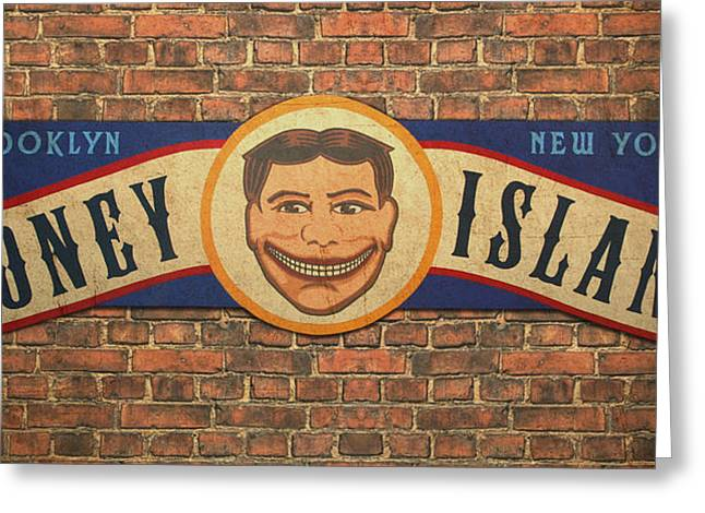 Movie Prop Paintings Greeting Cards - Coney Island Sign Greeting Card by Bill Jonas