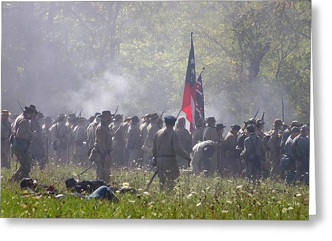 150th Commemoration Digital Art Greeting Cards - Confederate Army Engaged in Battle - Perryville KY Greeting Card by Thia Stover