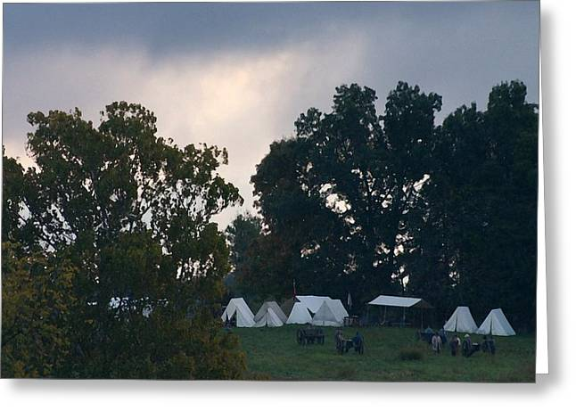 150th Commemoration Greeting Cards - Confederate Camp Pre-Dawn Battle - Perryville KY  Greeting Card by Thia Stover