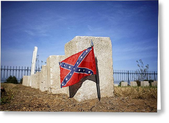 Confederate Flag Greeting Cards - Confederate Dead Greeting Card by Lisa OConnor