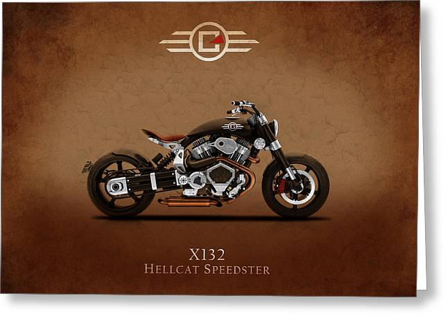Speedster Greeting Cards - Confederate Hellcat Greeting Card by Mark Rogan