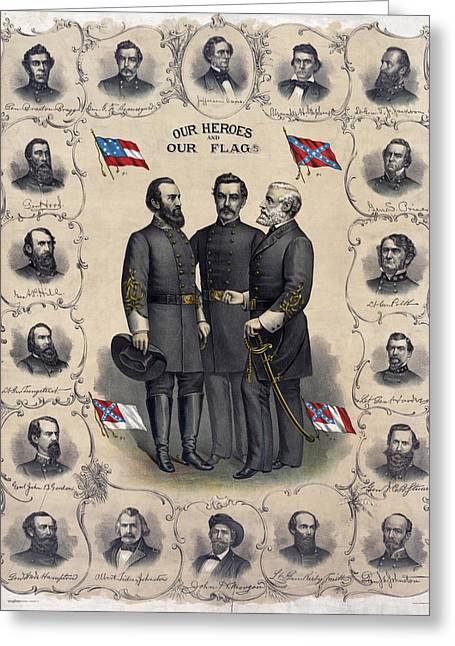 Confederate Leaders, C1896 Greeting Card by Granger