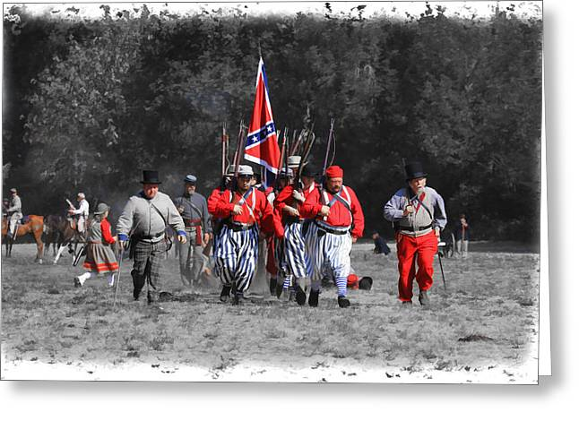 Confederate Flag Greeting Cards - Confederate March Greeting Card by Steve McKinzie