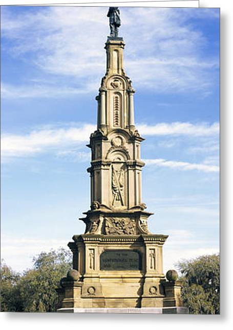 Confederate Monument Greeting Cards - Confederate Memorial In Forsyth Park Greeting Card by Panoramic Images