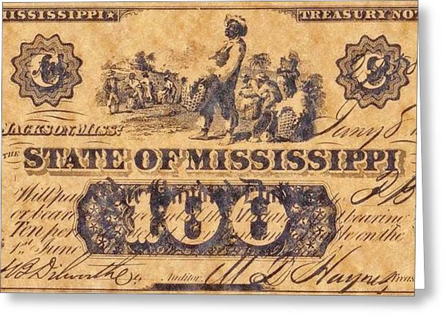 Funds Mixed Media Greeting Cards - Confederate Money 2 Greeting Card by Todd and candice Dailey