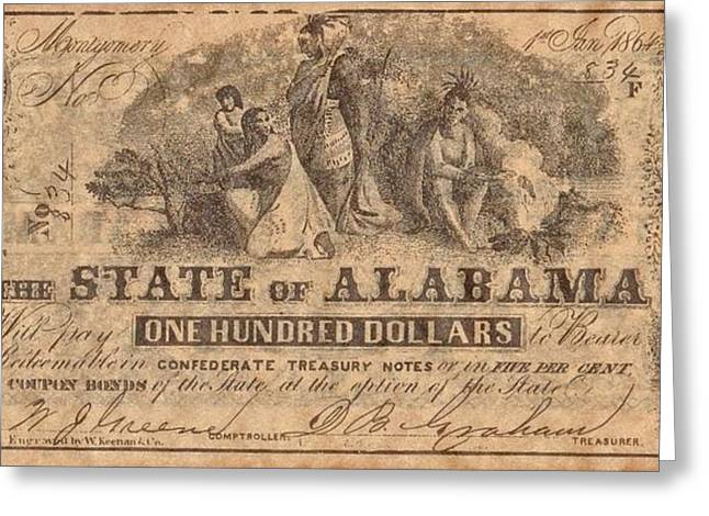 Funds Mixed Media Greeting Cards - Confederate Money 3 Greeting Card by Todd and candice Dailey