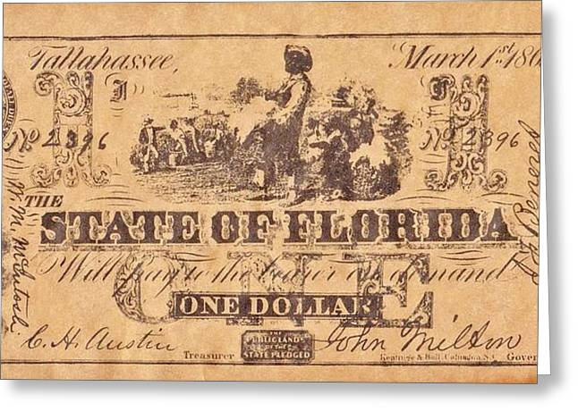 Funds Mixed Media Greeting Cards - Confederate Money 6 Greeting Card by Todd and candice Dailey