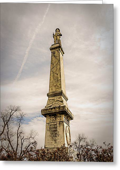 Confederate Monument Greeting Cards - Confederate Monument Greeting Card by Maria Coulson