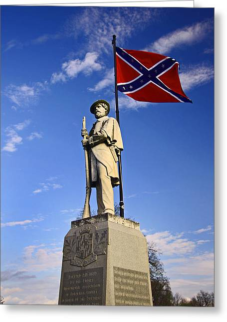 Confederate Flag Greeting Cards - Confederate  Greeting Card by Russ Morrison
