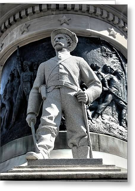 Statue Of Confederate Soldier Greeting Cards - Confederate Soldier II Alabama State Capitol Greeting Card by Lesa Fine