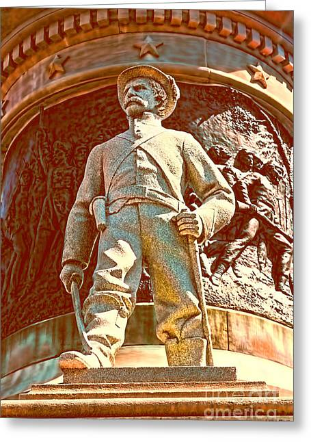 Statue Of Confederate Soldier Greeting Cards - Confederate Soldier Statue I Alabama State Capitol Greeting Card by Lesa Fine