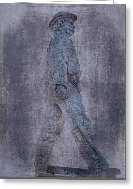 Confederate Monument Greeting Cards - Soldier Statue VII Alabama State Capitol Greeting Card by Lesa Fine