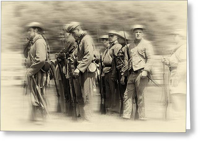 Bayonet Greeting Cards - Confederate soldiers Greeting Card by Kenneth Sponsler