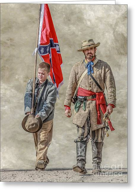 Recently Sold -  - Civil Greeting Cards - Confederate Sons Greeting Card by Randy Steele