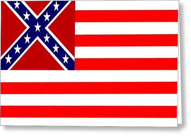 Confederate Flag Greeting Cards - Confederate Stripes Flag Greeting Card by Frederick Holiday