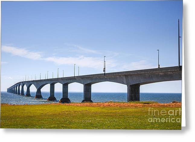 Northumberland Greeting Cards - Confederation Bridge Greeting Card by Elena Elisseeva