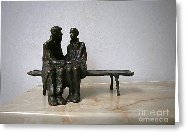 Realism Sculptures Greeting Cards - Confession of love Greeting Card by Nikola Litchkov