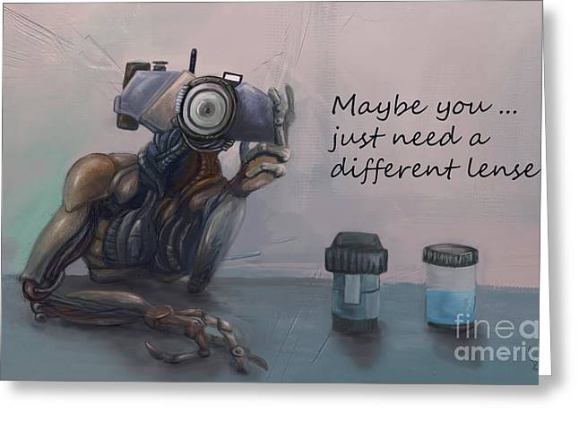 Mecha Greeting Cards - Confessions Greeting Card by Jacques Achille