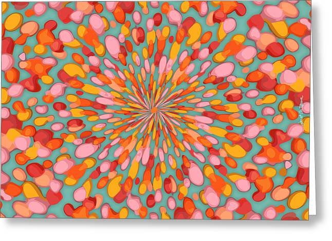 10x10 Greeting Cards - Confetti Burst Greeting Card by Janet Antepara