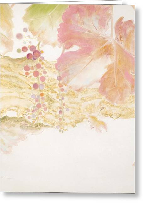 Cabernet Pastels Greeting Cards - Confetti Grapes Greeting Card by Susan Frank