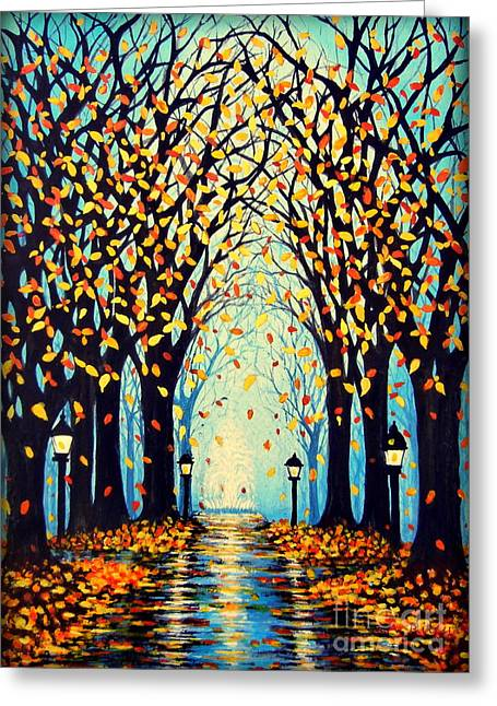 In A Park Greeting Cards - Confetti Greeting Card by Janine Riley