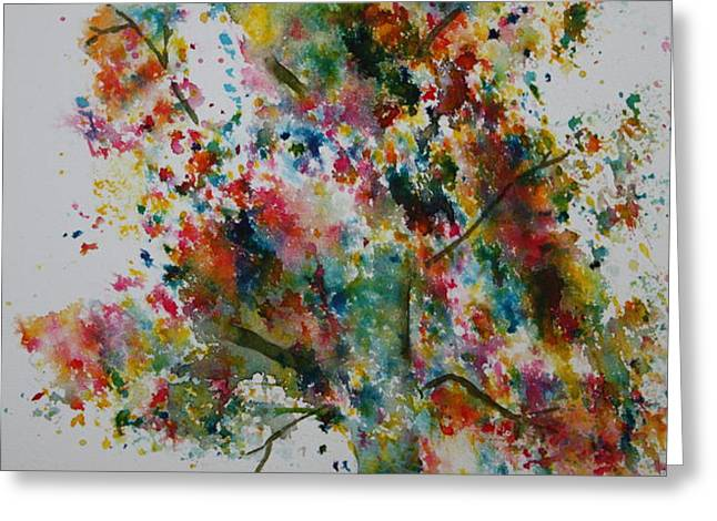 Confetti Tree Greeting Card by Patsy Sharpe