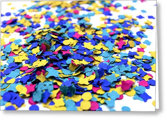 Confetti Greeting Cards - Confettis Greeting Card by Bernard Jaubert