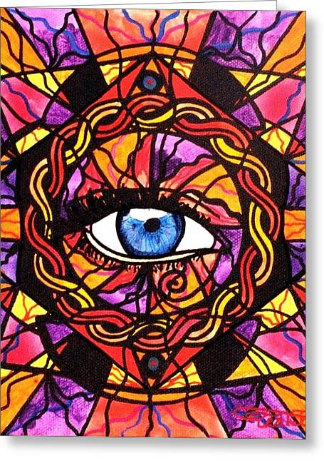 Allopathy Paintings Greeting Cards - Confident Self Expression Greeting Card by Teal Eye  Print Store