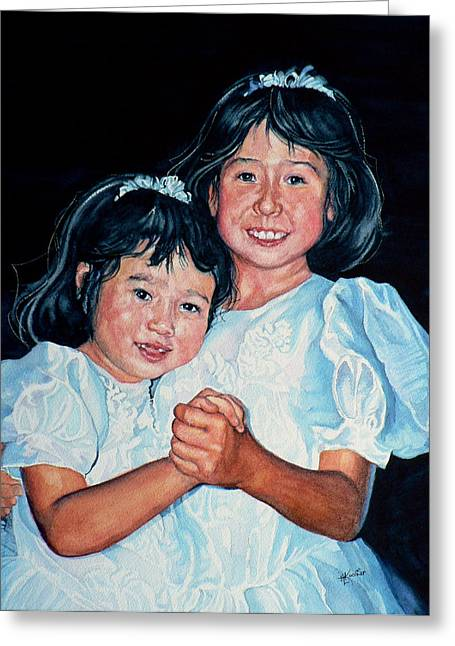 Confirmation Cousins Greeting Card by Hanne Lore Koehler