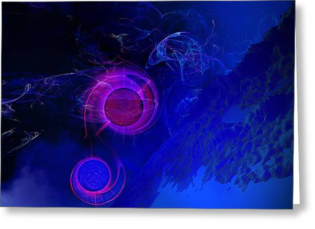 Binary Stars Greeting Cards - Confluence Greeting Card by Corey Ford