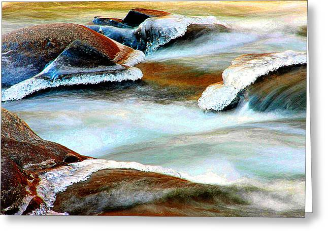 Philosophical Movement Greeting Cards - Confluence Greeting Card by Mike Flynn