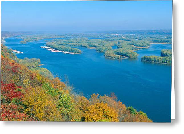 Bodies Of Water Greeting Cards - Confluence Of Mississippi And Wisconsin Greeting Card by Panoramic Images