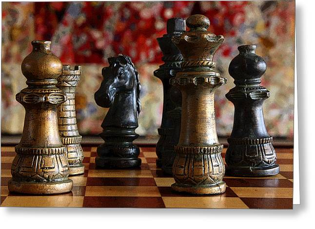 Chess Rook Greeting Cards - Confrontation Greeting Card by Joe Kozlowski