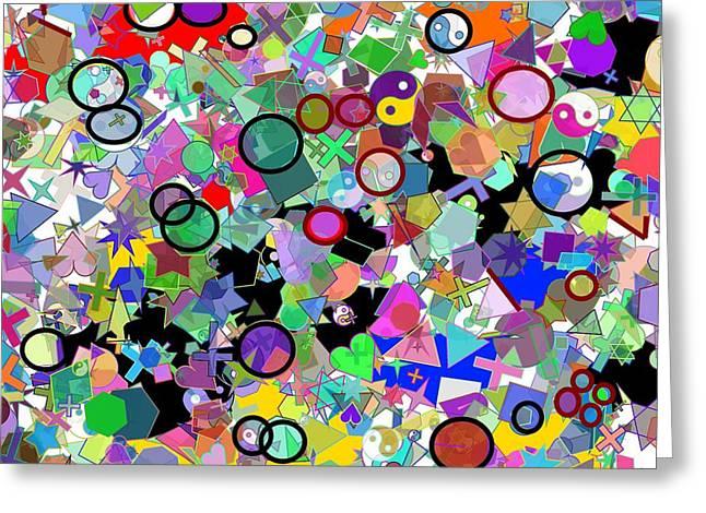 Confusing Digital Art Greeting Cards - Confusing Circles Greeting Card by Anand Swaroop Manchiraju