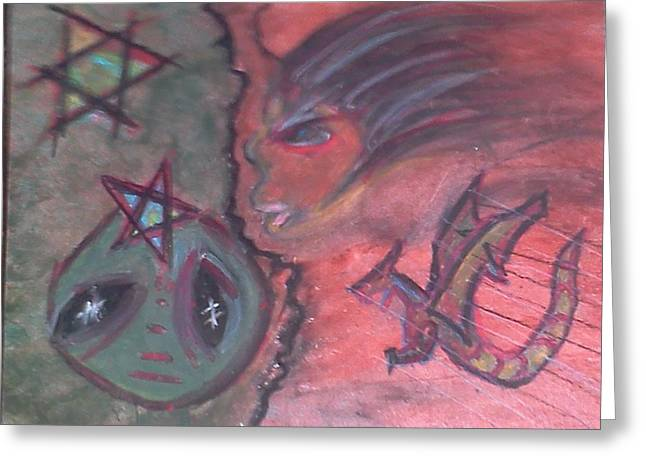 Cave Pastels Greeting Cards - Confusion  Greeting Card by Mario  Carter